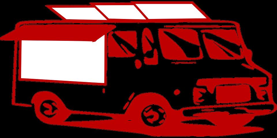 červená dodávka