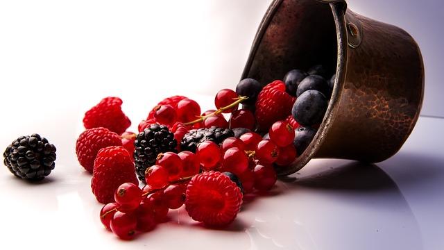 vysypané ovoce