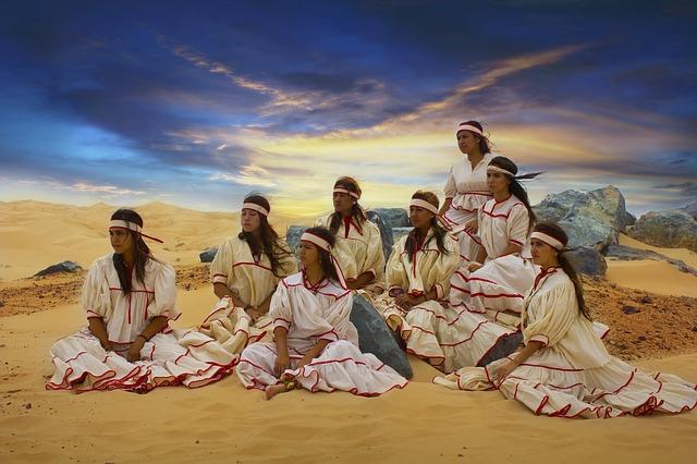 ženy na poušti