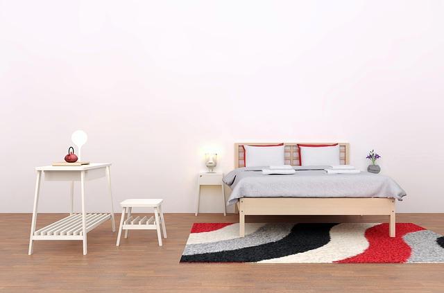 koberec pod postelí